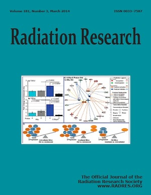 March 2014 Radiation Research journal cover
