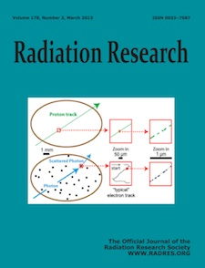 March 2013 Radiation Research journal cover