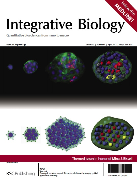 April 2011 cover of Integrative Biology journal     cover